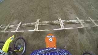 Insane Start in Vet Motocross Race - Bellpuig 2015 GoPro