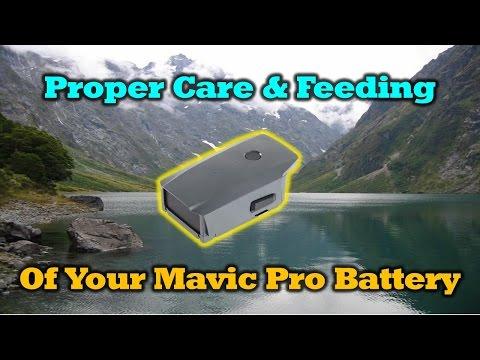 Mavic Pro Battery - Proper Care & Feeding