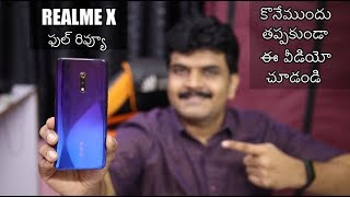Realme X Full Review With Pros & Cons ll in Telugu ll