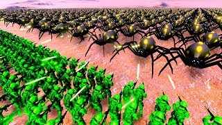 20000 Green Army Men Fight a 10000 Giant Spider Invasion in Ultimate Epic Battle Simulator!