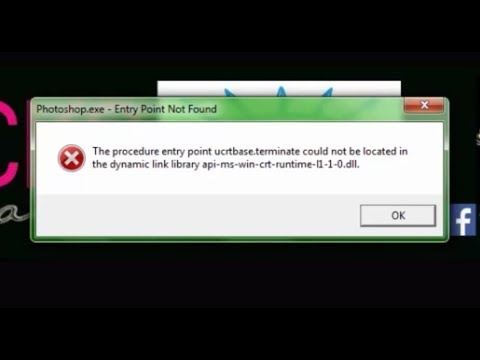 The procedure entry point ucrtbase terminate couldnot be located in