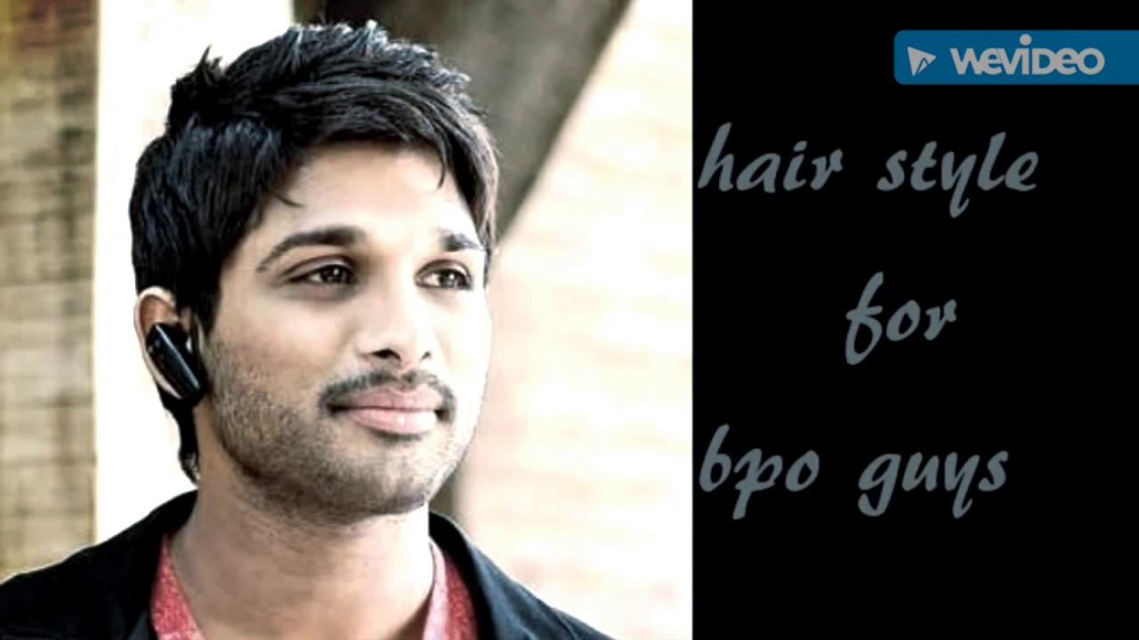 stylishstar allu arjun profession wise hairstyle youtube