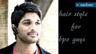 Stylishstar Allu Arjun profession wise Hairstyle