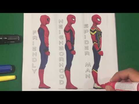 SPIDERMAN HOMECOMING All Suits Coloring Pages SAILANY Coloring Kids ...
