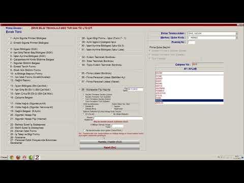 Zirve Yazılım Bordro - Maaş Hesaplama ve Maaş Bordrosu Oluşturma - İşe Giriş ve Çıkış Bildirgeleri