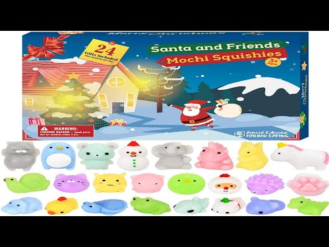 BATTOP Advent Calendar 2019 Christmas Countdown Calendar Cute Mochi Animals Squishy Toys