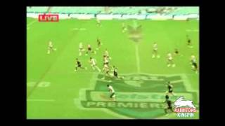 Rabbitohs James Roberts hat-trick against Roosters - Toyota Cup Round 1 2011