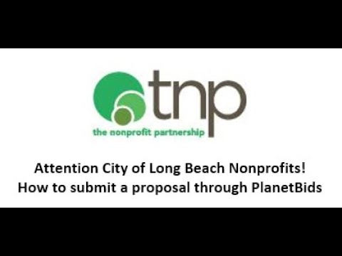 City of Long Beach Nonprofits- How to submit a proposal through PlanetBids