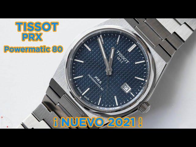 Tissot PRX Powermatic 80 En El Estudio de Debajo del Reloj
