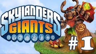 SKYLANDERS GIANTS WALKTHROUGH - PART 1 - Time of the Giants