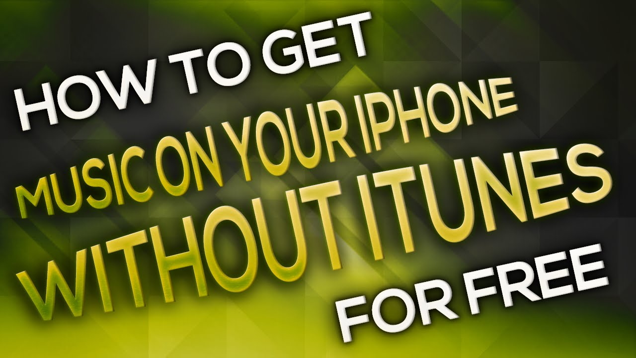 how to download free music on your iphone without itunes