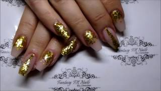 Fantasy FX Nails - Infill with CJP and gold glitter