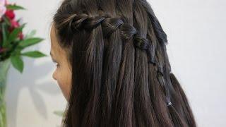 Прическа водопад из косы / waterfall braid hairstyle
