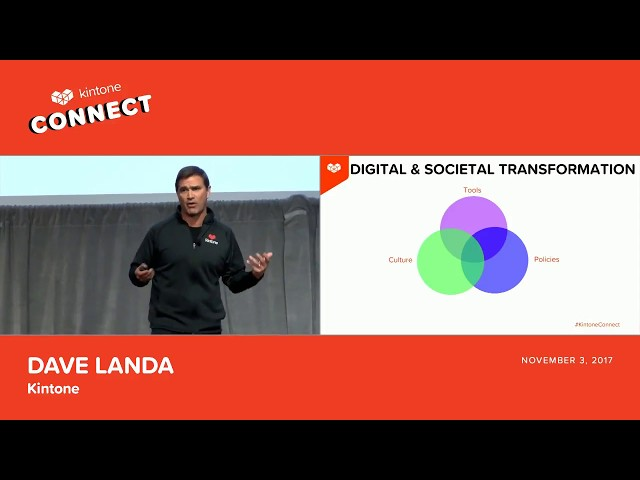 Kintone Connect 2017 Keynote -- Dave Landa