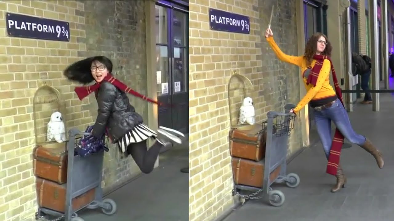 Action & shooting on Platform 9 3/4 + Harry Potter Shop ...