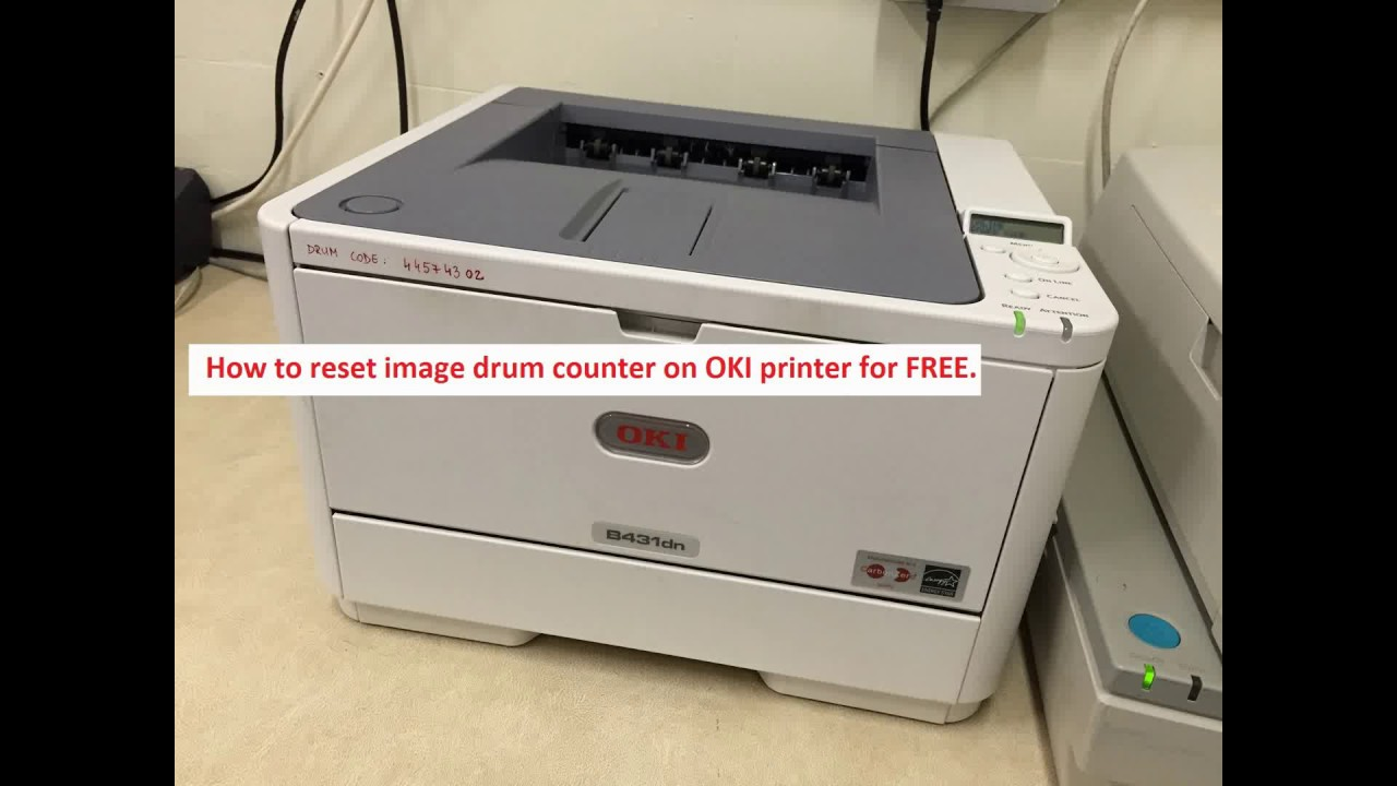 How to reset image drum counter on OKI printer for FREE