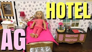 American Girl Grand Hotel Unboxing with Luggage Cart, Room Service Set, and Luggage Set