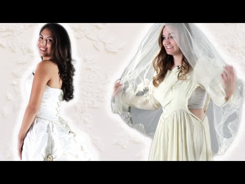 Daughters Try On Their Mother's Wedding Dress