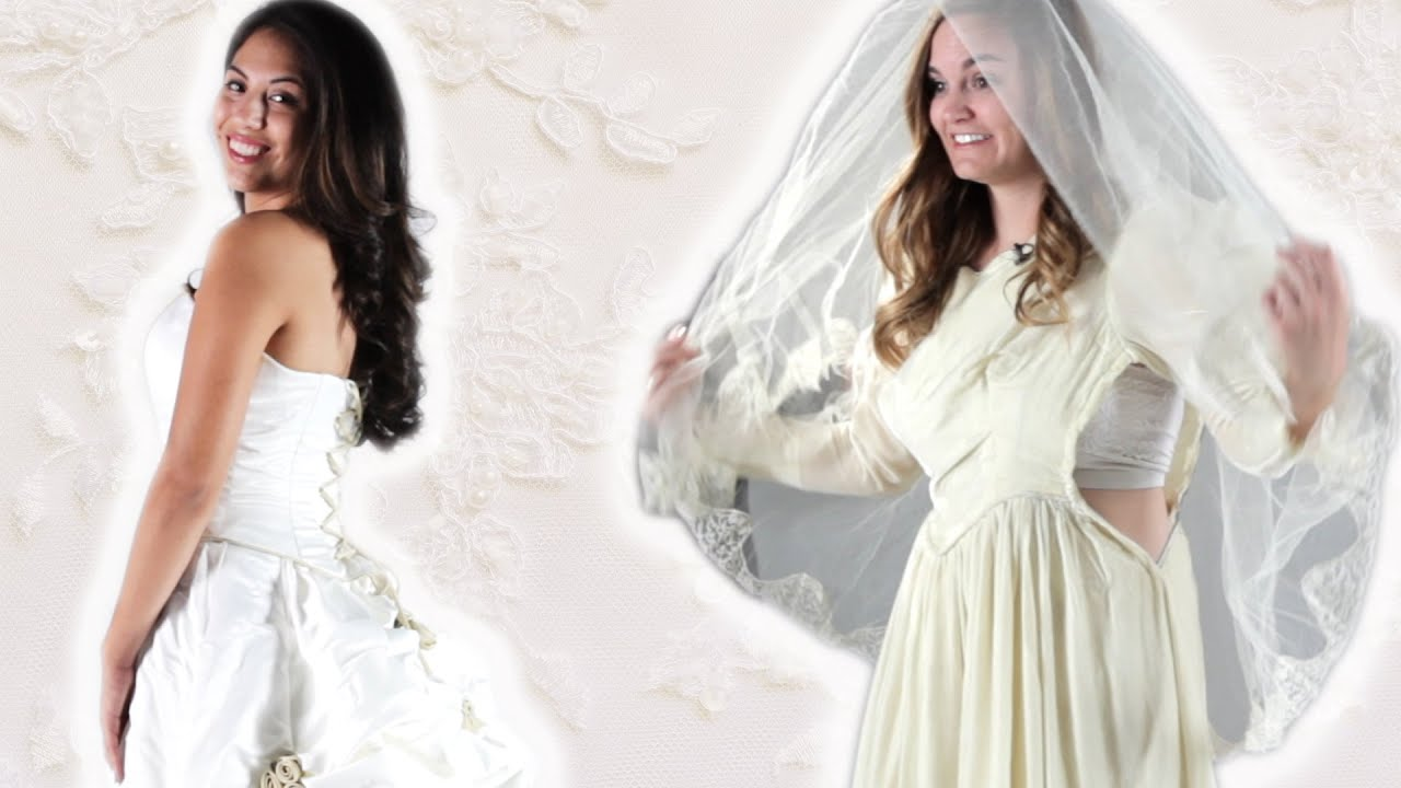 Daughters Try On Their Motheru0027s Wedding Dress   YouTube