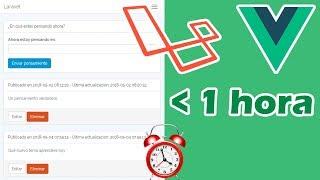 App Laravel + Vue en menos de 1 hora (CRUD completo)