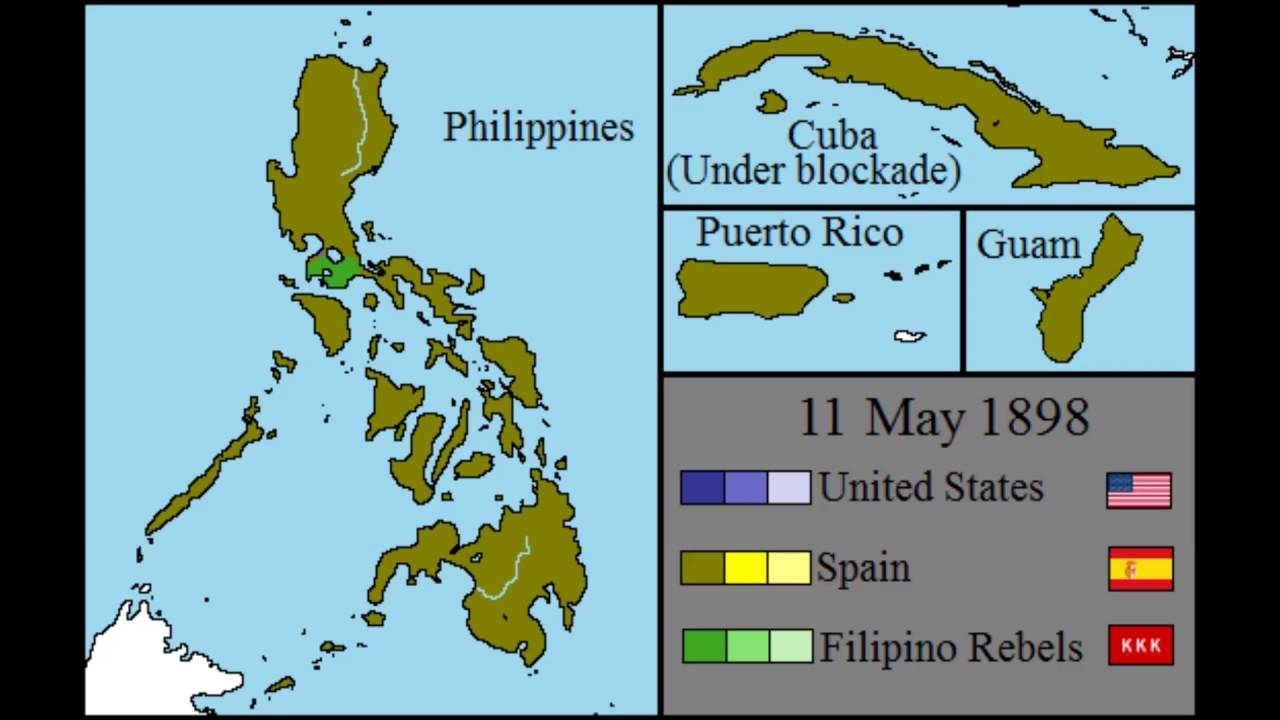 Spanish American War Philippines Map.Spanish American War Every Day Youtube