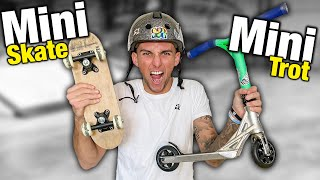 UNE MINI TROTTINETTE VS UN MINI SKATE !