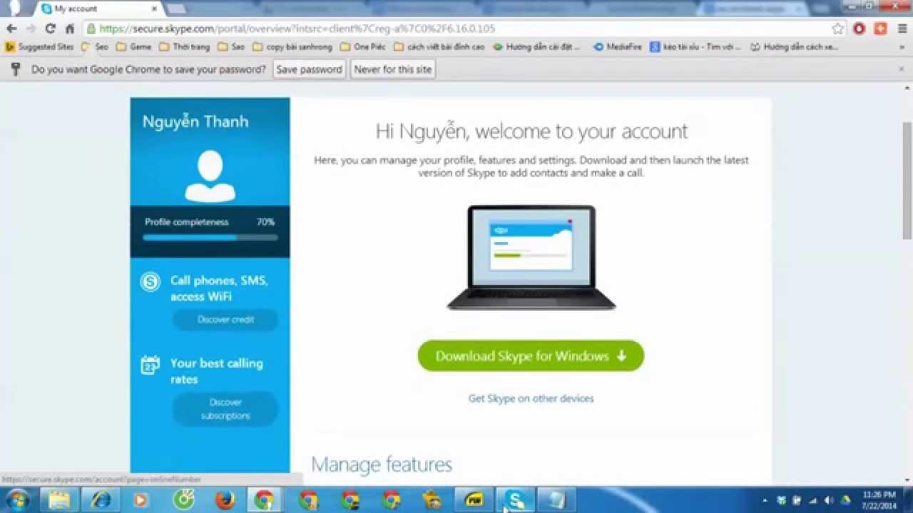 Tạo tài khoản skype và hướng dẫn đăng nhập skype đơn giản
