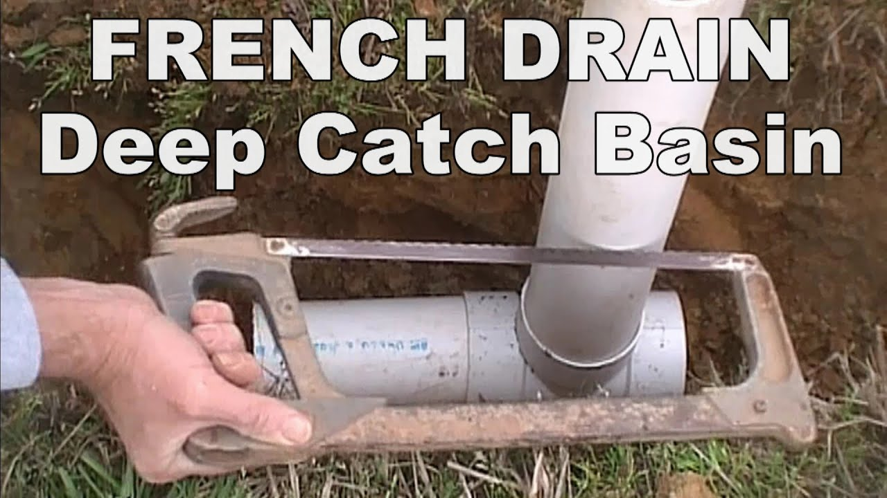 wet spots in yard french drain with deep catch basin how to