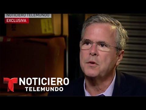 Hablamos en español con el precandidato republicano Jeb Bush | Noticiero | Noticias Telemundo