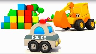 #MaxderBagger baut #Polizeiauto – Max der Bagger und das Überraschungsei – Cartoon für Kinder