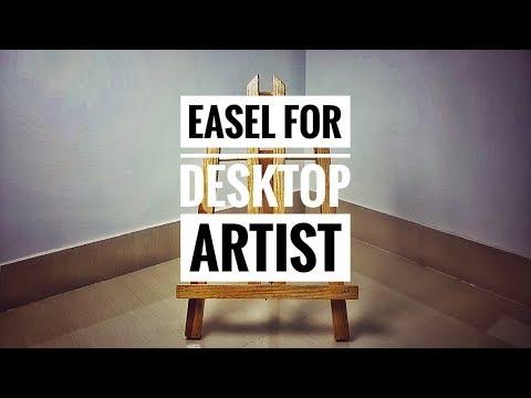 How to make a Desktop Easel For Artist-- Homemade DIY Wood Easel