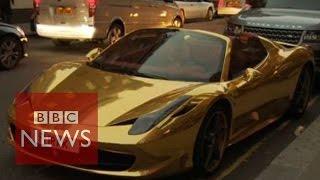 Supercars: Ferraris & Bugattis invade London - BBC News