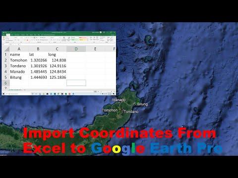 Cara Memasukkan koordinat di google earth dengan menggunakan Koordinat Geografis dengan cukup mudah .