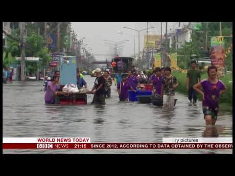 Bangkok sinking under its own success (Thailand) - BBC News - 2nd September 2018