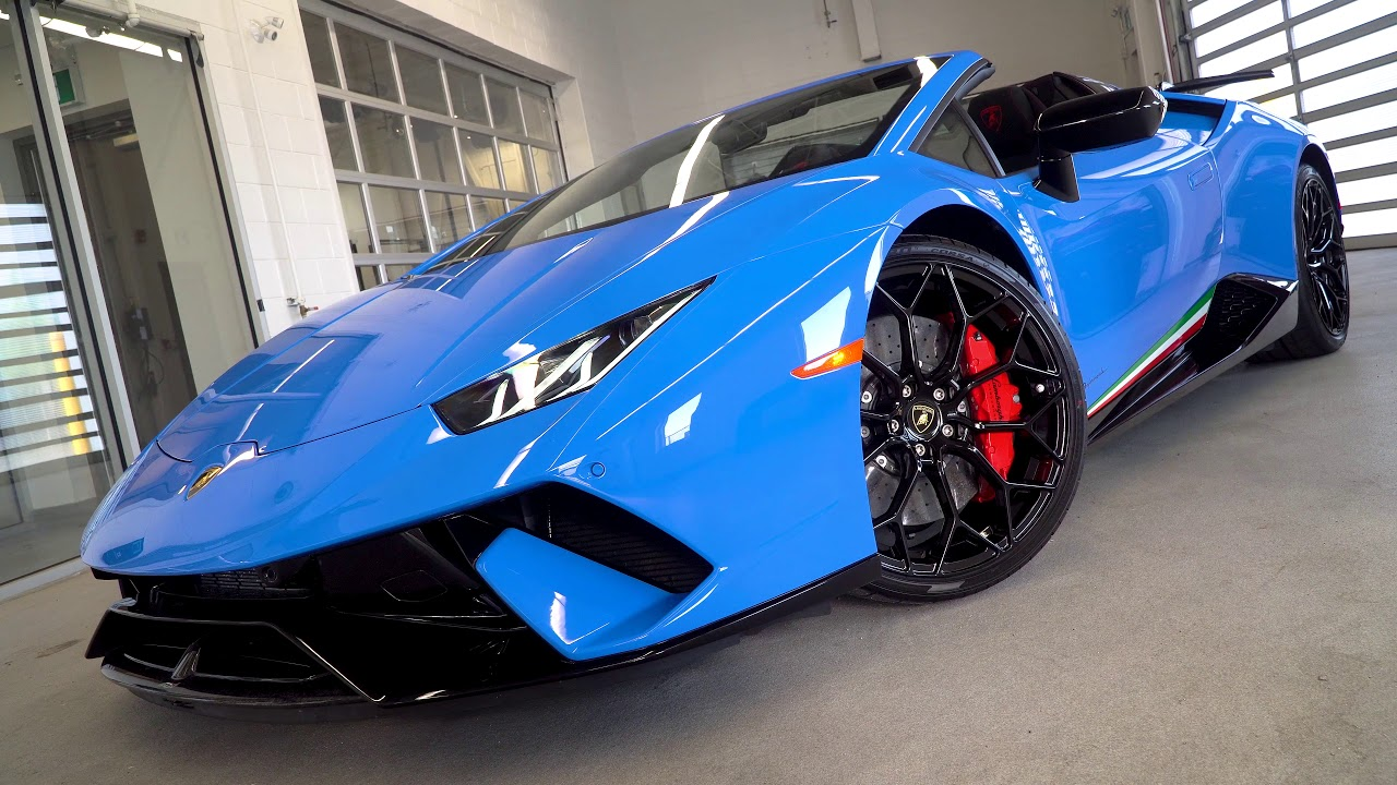 CHECK OUT THIS BLU LE MANS Lamborghini Huracán Performante ...