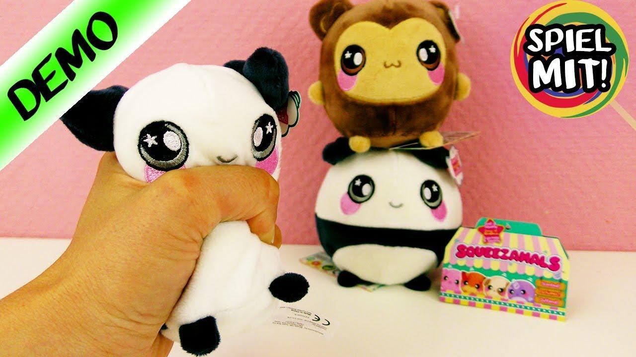 squeezamals s e pl schtier squishies zum sammeln panda affenbaby spiel mit mir demo. Black Bedroom Furniture Sets. Home Design Ideas