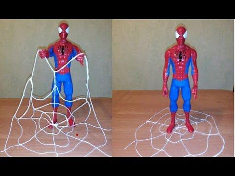 Паутиномёты человека паука своими руками