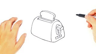 How to draw a Toaster Step by Step   Toaster Drawing Lesson