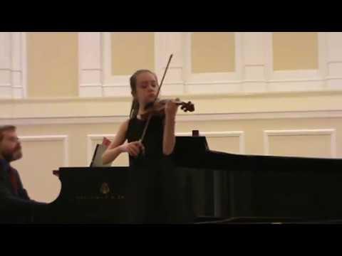 Tchaikovsky Concerto 2nd mvt - Serena Harnack 11 violin