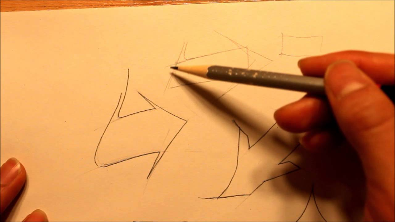 how to draw graffiti style arrows properly | graphics graffiti and