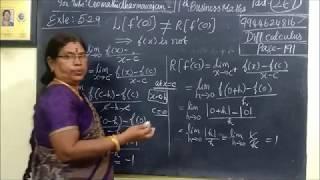 11th B-Maths [Part-267] Exle-5.29 Diff calculus Gomathi dharmarajan