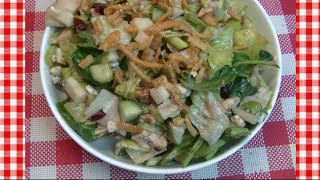 Apple Cranberry & Chicken Dinner Salad ~ Noreen's Kitchen