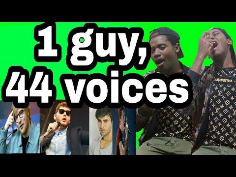 Bir Adam, 44 Ses (türkçe Sarkilari Da..). || #taklitman #osesturkiye .