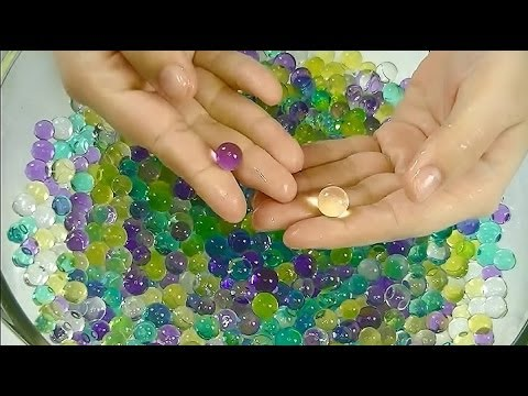 Satisfying ASMR: Binaural Sound Assortment With Kinetic Sand, Water Gems/Marbles, & Drawing in Sand