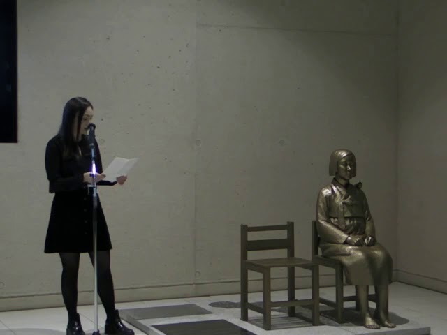 """1. Vernissage """"Mädchenstatue für den Frieden"""" - Kyra Beninga"""