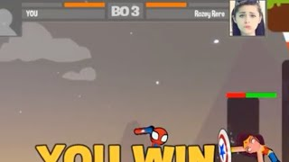 Playing stickman battle online awesome game