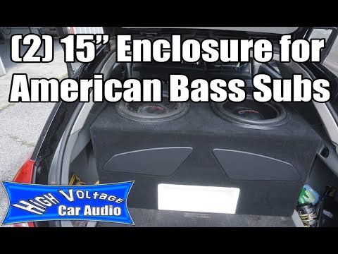 """Enclosure For (2) American Bass 15"""" Subs"""