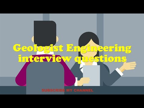 Geologist Engineering interview questions