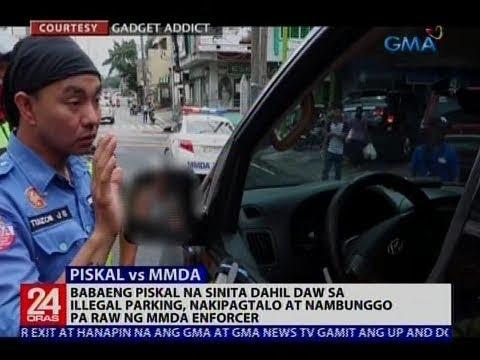 Babaeng piskal na sinita dahil sa illegal parking, nakipagtalo at nambunggo pa raw ng MMDA enforcer