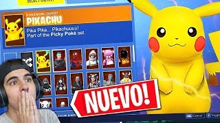 UNLOCKING THE -NEW PIKACHU SECRET SKIN (PROHIBITED AND SECRET SKINS IN FORTNITE)